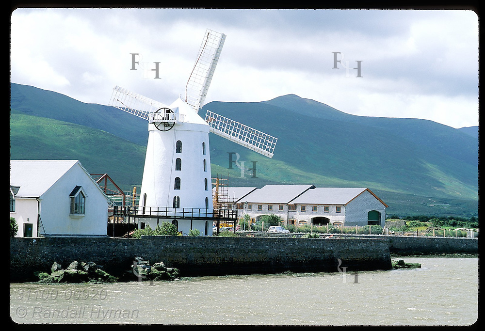 Blennerville Windmill is a tourist attraction along Tralee Bay on the Dingle Peninsula. Ireland