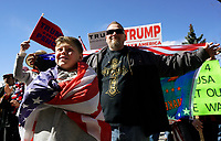 """Supporters of U.S. President Donald Trump at a """"Spirit of America"""" rally in Denver February 27, 2017.   REUTERS/Rick Wilking"""
