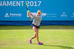LIVERPOOL, ENGLAND - Thursday, June 15, 2017: Polona Hercog (SLO) during Day One of the Liverpool Hope University International Tennis Tournament 2017 at the Liverpool Cricket Club. (Pic by David Rawcliffe/Propaganda)