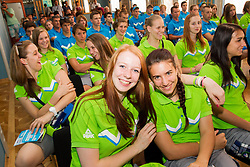 Presentation of Team Slovenia for 12th European Youth Olympic Summer Festival in Utrecht, Netherlands  on July 9, 2013 in Hotel Union, Ljubljana, Slovenia. (Photo by Vid Ponikvar / Sportida.com)