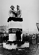 Vladimir Lenin inaugurates a statue of Marx and Engels Moscow 1918