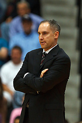 Jan 21, 2012; Santa Clara CA, USA;  Santa Clara Broncos head coach Kerry Keating on the sidelines against the St. Mary's Gaels during the first half at the Leavey Center.  St. Mary's defeated Santa Clara 93-77. Mandatory Credit: Jason O. Watson-US PRESSWIRE