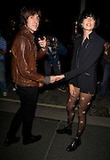21.SEPTEMBER.2009 - LONDON<br /> <br /> AGYNESS DEYN AND HER BOYFRIEND MILES KANE LEAVING THE HOUSE OF HOLLAND FASHION SHOW HELD AT THE GUILDHALL.<br /> <br /> BYLINE MUST READ : EDBIMAGEARCHIVE.COM<br /> <br /> *THIS IMAGE IS STRICTLY FOR UK NEWSPAPERS & MAGAZINES ONLY*<br /> *FOR WORLDWIDE SALES & WEB USE PLEASE CONTACT EDBIMAGEARCHIVE - 0208 954 5968*
