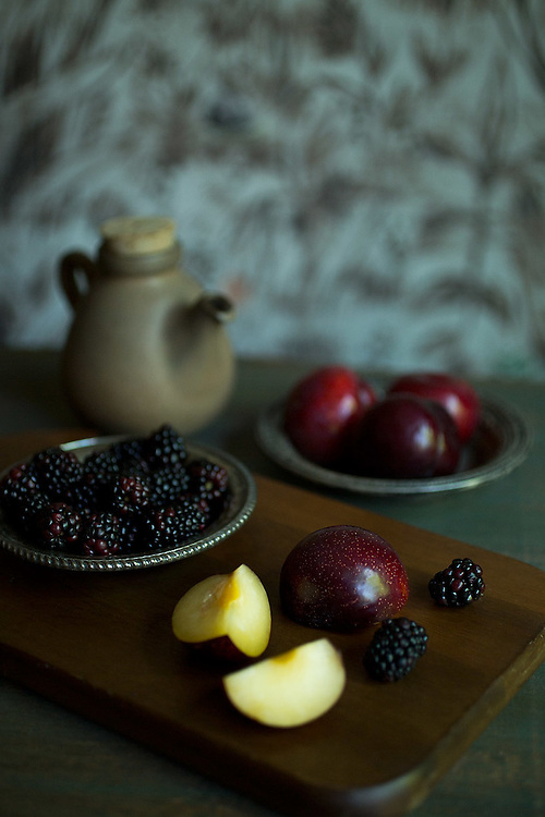 Plum and Black berry