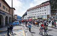 People gather for a demonstration against cross assurance measures at the border from Italy to Austria in Gries am Brenner, Austria.<br /> Picture by EXPA Pictures/Focus Images Ltd 07814482222<br /> 24/04/2016