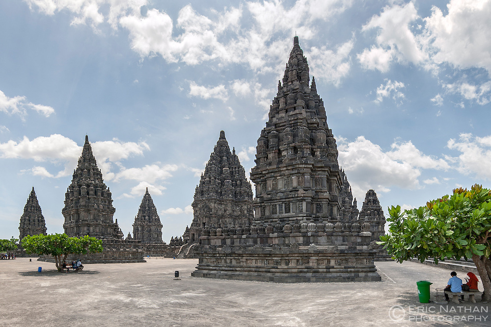 Prambanan, a 9th-century Hindu temple near Yogyakarta in central Java, Indonesia.