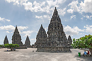 Prambanan, a 9th-century Hindu temple near Yogyakarta in central Java, Indonesia.