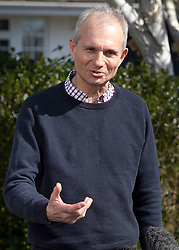 © Licensed to London News Pictures. 24/03/2019. Princes Risborough, UK.  Minister for the Cabinet Office, David Lidington, talks to reporters outside his house. There have been reports of a cabinet revolt against Prime Minister Theresa May, over her handing of the Brexit negotiations with some MPs suggesting Mr Lidington as a temporary prime minister. Photo credit: Peter Macdiarmid/LNP