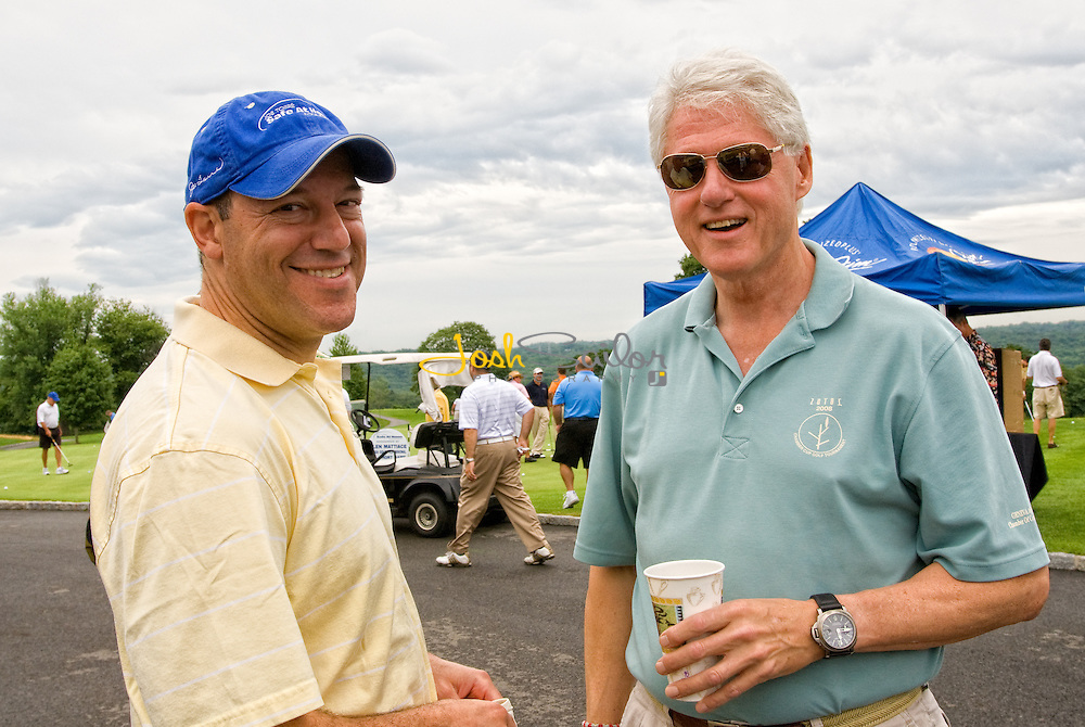 Bill Clinton and Ari Fleischer at the Joe Torre Safe At Home® Foundation Golf Classic 2008