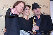 Portrait du groupe Galaxie - Prix de l'ADISQ 2015 : Groupe de l'année. En direct des remises de prix de l'ADISQ avec Francophonie Express à la Place des Arts / Montreal / Canada / 2015-11-08, Photo © Marc Gibert / adecom.ca
