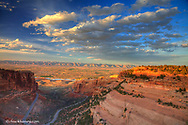 Looking down at the Fruita Canyon in the Colorado National Monument in Fruita, Colorado, USA