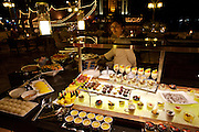 The Oriental Hotel. Barbecue buffet at the river terrace. The dessert lady.