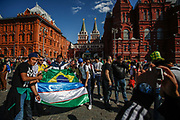 Fans at Red Square during the 2018 FIFA World Cup Russia on June 15, 2018 in Moscow, Russia - Photo Thiago Bernardes / FramePhoto / ProSportsImages / DPPI