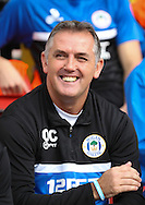 Picture by David Horn/Focus Images Ltd +44 7545 970036<br /> 28/09/2013<br /> Owen Coyle Manager of Wigan Athletic is all smiles during the Sky Bet Championship match at Vicarage Road, Watford.