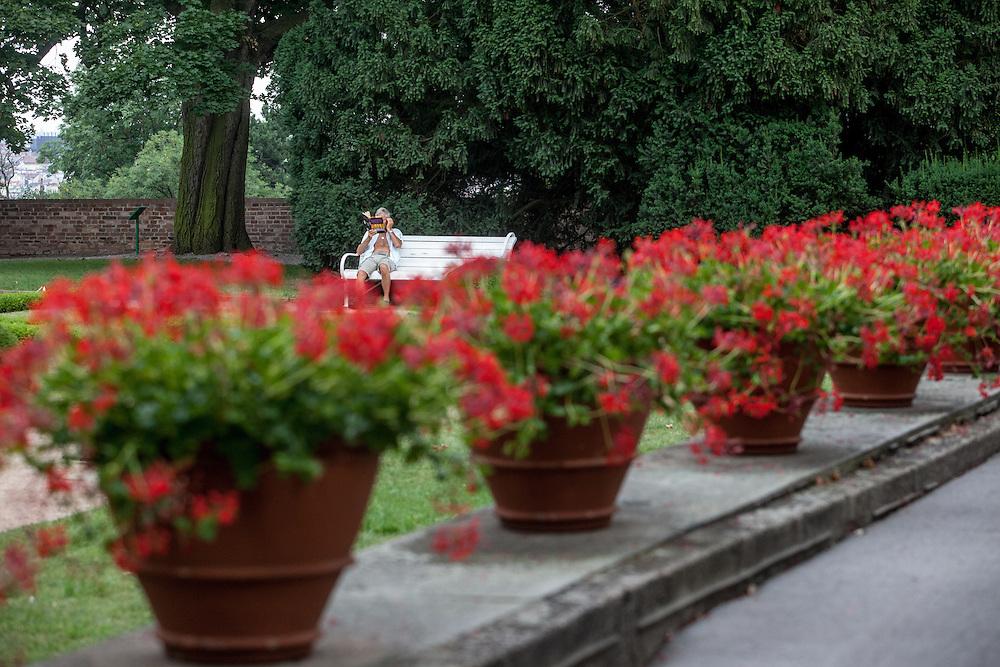 Die Königlichen Gärten (Kralovska Zahrada) in der Nähe der Prager Burg.