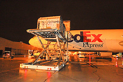 Departure of the horses to Kentucky from Liege airport<br /> Alltech FEI World Equestrian Games - Kentucky 2010<br /> © Dirk Caremans