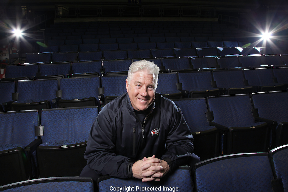 Bill Davidge the voice of the Columbus Blue Jackets.
