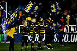 Worcester Warriors flag bearers - Mandatory by-line: Robbie Stephenson/JMP - 17/01/2020 - RUGBY - Sixways Stadium - Worcester, England - Worcester Warriors v Castres Olympique - European Rugby Challenge Cup