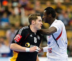 20.01.2011, Kristianstad Arena, SWE, IHF Handball Weltmeisterschaft 2011, Herren, Deutschland vs Tunesien, im Bild, // Tyskland Germany 8 Sebastian Preiss // during the IHF 2011 World Men's Handball Championship match Germany vs Tunisia  at Kristianstad Arena, Sweden on 20/1/2011. EXPA Pictures © 2011, PhotoCredit: EXPA/ Skycam/ Henrik Johansson +++++ ATTENTION - OUT OF SWEDEN/SWE +++++