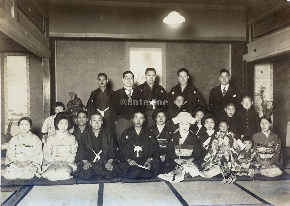 wedding celebration Japan early 1930s