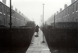 Colliery houses in Ashington; Northumberland; 1984; NE England