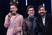 Years and Years accept their award during the O2 Silver Clef Awards 2019, Grosvenor House, London, UK, Friday 05 July 2019<br /> Photo JM Enternational