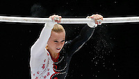 Elisabeth Black of Canada competes on the Uneven Bars during the women's all around final at the Artistic Gymnastics World Championships in Antwerp, Belgium, 04 October 2013.