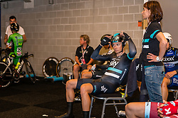 ROCHE Nicholas from Ireland of Team Sky (GBR) before the start at velodrome Omnisport, stage 1 (ITT) from Apeldoorn to Apeldoorn running 9,8 km of the 99th Giro d'Italia (UCI WorldTour), The Netherlands, 6 May 2016. Photo by Pim Nijland / PelotonPhotos.com | All photos usage must carry mandatory copyright credit ( Peloton Photos | Pim Nijland)