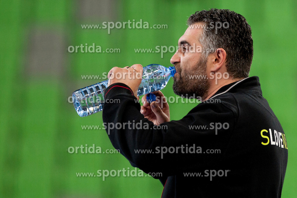 Boris Denic, coach of Slovenia at handball match between National teams of Slovenia and Portugal of Qualifications for World Cup 2013, on June 9, 2012 in Arena Stozice, Ljubljana, Slovenia. (Photo By Urban Urbanc / Sportida.com)