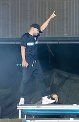 Walshy Fire of Major Lazer performing live on stage on day 3 of Leeds Festival a Bramham Park, UK. Picture date: Sunday 27 August, 2017. Photo credit: Katja Ogrin/ EMPICS Entertainment.