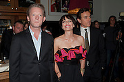 DOUGLAS HENSHALL; KRISTIN SCOTT THOMAS; BEN MILES, Comedy Theatre First night party for Betrayal by Harold Pinter. National Gallery Cafe. Trafalgar Sq. London. <br /> <br />  , -DO NOT ARCHIVE-© Copyright Photograph by Dafydd Jones. 248 Clapham Rd. London SW9 0PZ. Tel 0207 820 0771. www.dafjones.com.