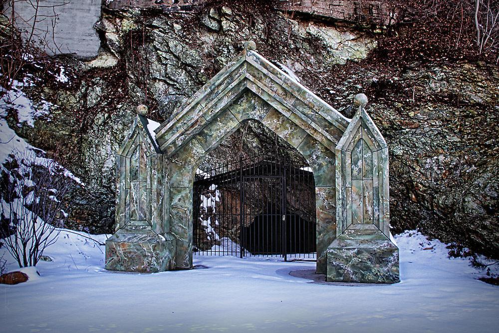 Entrance to Sybil's Cave, Hoboken NJ.