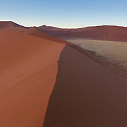 Sossusvlei, Dune 45, Namibia at sunrise.