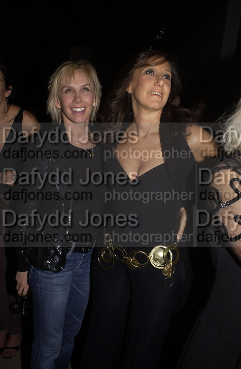 Donna Karan and Trudie Styler. . Donna Karan party at her shop with concert by Debbie Harry. 28 October 2002. © Copyright Photograph by Dafydd Jones 66 Stockwell Park Rd. London SW9 0DA Tel 020 7733 0108 www.dafjones.com
