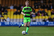 Forest Green Rovers Nathan McGinley(19) on the ball during the EFL Sky Bet League 2 match between Port Vale and Forest Green Rovers at Vale Park, Burslem, England on 23 March 2019.