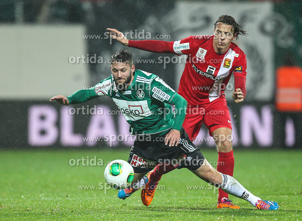 23.11.2013, Keine Sorgen Arena, Ried im Innkreis, AUT, 1. FBL, SV Josko Ried vs FC Admira Wacker Moedling, 16. Runde, im Bild Oliver Kragl, (SV Josko Ried, #11) und Stefan Schwab, (FC Admira Wacker Moedling, #22) // during Austrian Football Bundesliga Match, 16th round, between SV Josko Ried and FC Admira Wacker Moedling at the Keine Sorgen Arena, Ried im Innkreis, Austria on 2013/11/23. EXPA Pictures © 2013, PhotoCredit: EXPA/ Roland Hackl