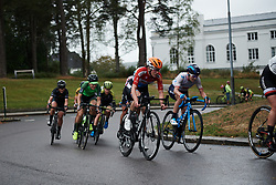 Christine Majerus (LUX) and Malgorzata Jasinska (POL) with two laps to go at Ladies Tour of Norway 2018 Stage 2, a 127.7 km road race from Fredrikstad to Sarpsborg, Norway on August 18, 2018. Photo by Sean Robinson/velofocus.com