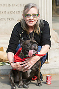 UNITED KINGDOM, London: 07 June 2016 Actresses Carrie Fisher  shows her support outside the Chinese Embassy earlier today as they join other animal campaigners to hand in a petition against China's Yulin dog meat festival. Rick Findler / Story Picture Agency
