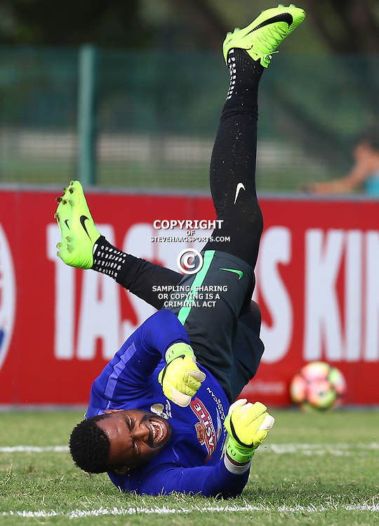 Itumeleng Khune G/K of (Bafana Bafana) South Africa during the Bafana Bafana Training at People's Park, Moses Mabhida Stadium in Durban,21st March 2017 (Steve Haag)