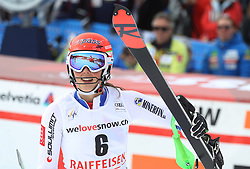 28.01.2018, Lenzerheide, SUI, FIS Weltcup Ski Alpin, Lenzerheide, Slalom, Damen, 2. Lauf, im Bild Petra Vlhova (SVK) // Petra Vlhova of Slovakia reacts after her 2nd run of ladie's Slalom of FIS ski alpine world cup in Lenzerheide, Austria on 2018/01/28. EXPA Pictures © 2018, PhotoCredit: EXPA/ Sammy Minkoff<br /> <br /> *****ATTENTION - OUT of GER*****