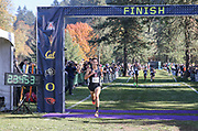 Oct. 27, 2017; Springfield, OR, USA; Stanford Cardinal runner Grant Fisher takes first in 23:44 in the Pac-12 cross country championshipsat the Springfield  Golf Club. Stanford won the the men's championship.