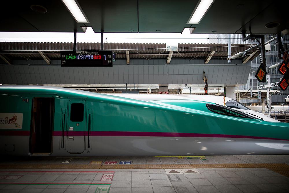 TOKYO, JAPAN - JULY 13 : Bullet train is seen at Tokyo Station on Wednesday, July 13, 2016, Tokyo, Japan.<br />   <br /> Photo: Richard Atrero de Guzman