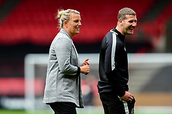 Tanya Oxtoby manager of Bristol City Women and Chris Underwood - Mandatory by-line: Ryan Hiscott/JMP - 07/09/2019 - FOOTBALL - Ashton Gate - Bristol, England - Bristol City Women v Brighton and Hove Albion Women - FA Women's Super League