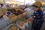 Uzbekistan, Khiva, Dekhon Bazaar.<br /> Peanuts.