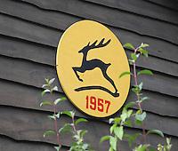 HOOG SOEREN  - Hole 9 van de Veluwse Golf Club. clublogo, wapen.  COPYRIGHT KOEN SUYK