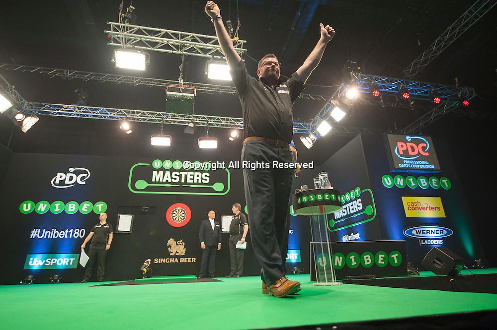 31.01.2016. ArenaMK, Milton Keynes, England. Unibet Masters Darts Championship.