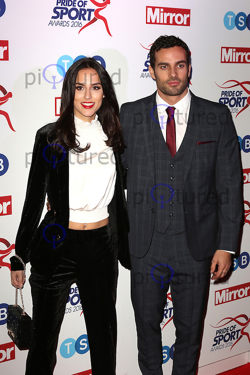Lucy Watson, James Dunmore, Pride of Sport Awards, Grosvenor House Hotel, London UK, 07 December 2016, Photo by Richard Goldschmidt