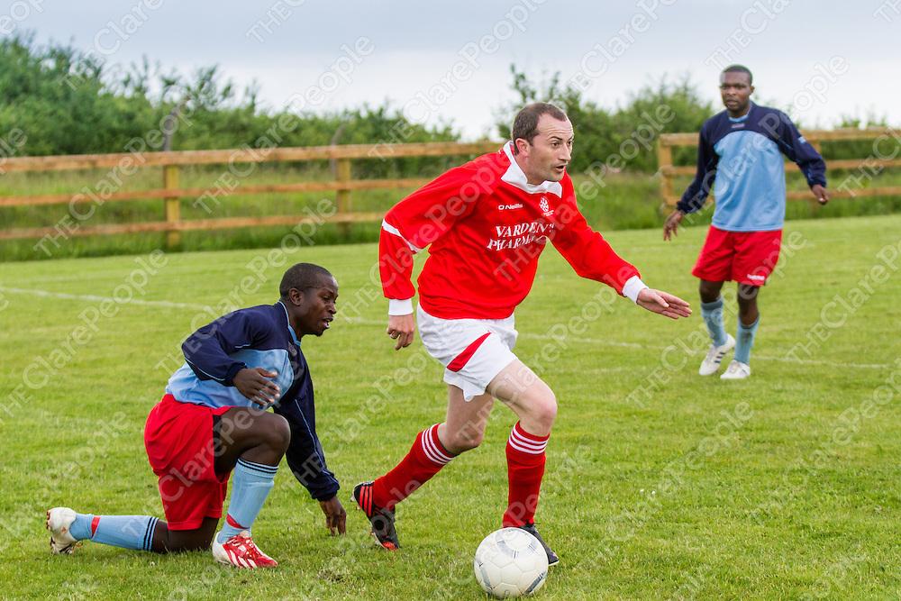 Newmarket Celtic's Seamus Considine V Liffords Oscar Sabinder