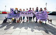 Liberal Democrats Autumn Conference in Brighton, East Sussex 15th September 2018 <br /> <br /> WASPI <br /> Women Against bState Pension Inequality We Paid in, You Pay Out - demonstration outside the conference centre <br /> <br /> <br /> Photograph by Elliott Franks