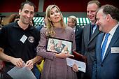 Koningin Maxima bezoekt seminar Meedoen Geld(t)?